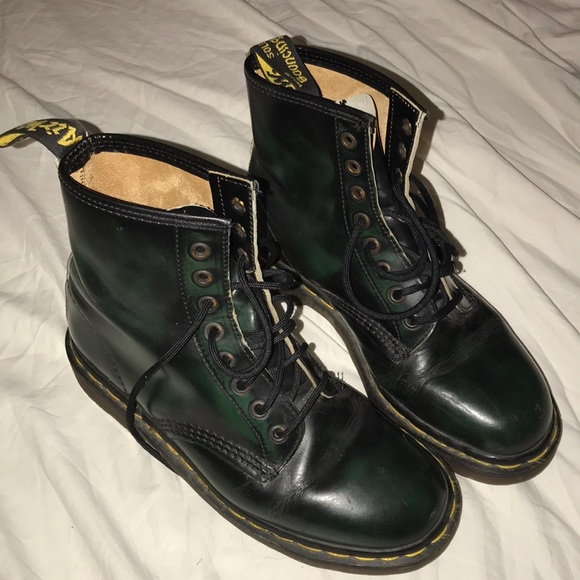 756014c2d3a Dr. Martens Shoes | Doc Martens Air Wair Forest Green Boots | Poshmark
